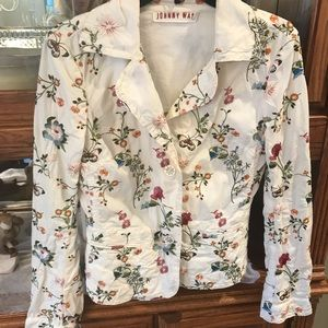 Johnny Was embroidered blazer 🌺